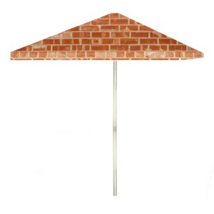 Boston Brick 6' Rectangular Market Umbrella