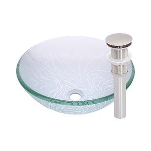 Novatto Gelo Glass Circular Vessel Bathroom Sink