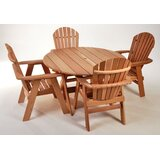 Jeremias 5 Piece Solid Wood Dining Set by Millwood Pines