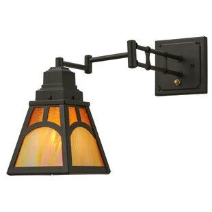 Meyda Tiffany Mission Hill Top 1-Light Swing Arm Lamp