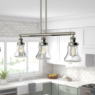 Beachcrest Home Nardone 3-Light Kitchen Island Pendant