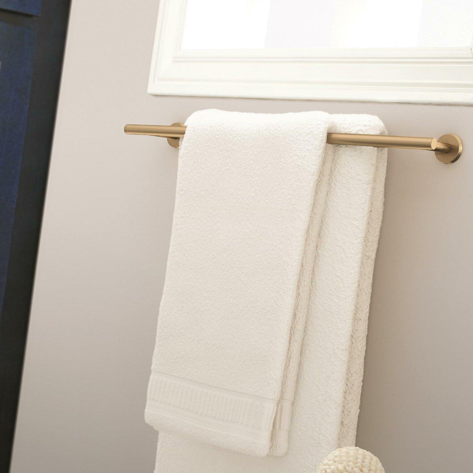 Arrondi™ Double Wall Mounted Towel Bar