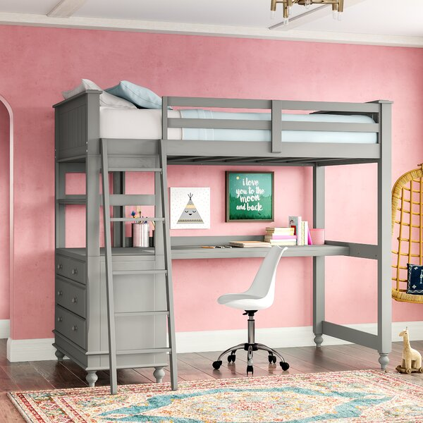 Full Loft Bed With Desk For Teens Teen Girl Bunk Beds With Desk | Wayfair