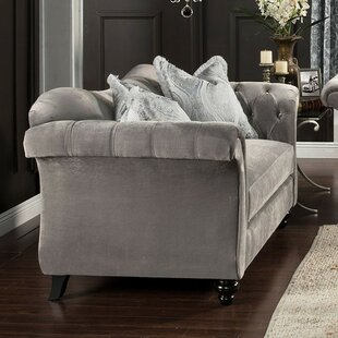 Darby Home Co Himmelmann Chesterfield Loveseat