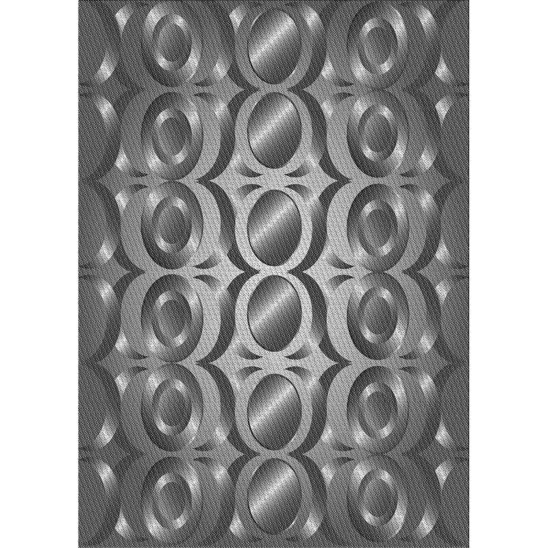 East Urban Home Geometric Wool Gray Area Rug Wayfair