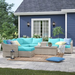 Falmouth 10 Piece Sectional Seating Group with Cushions by Sol 72 Outdoor
