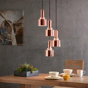 Wrought Studio Dunkelberger 4-Light Cluster Pendant