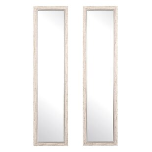 Embossed Steel Full Length Mirror (Set of 2) By Ophelia & Co.