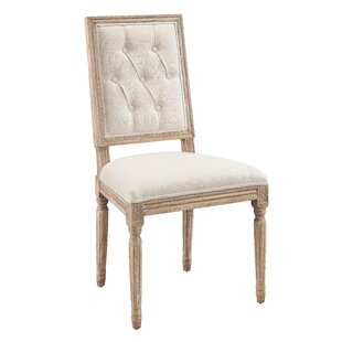 One Allium Way Patillo Tufted Square Back Upholstered Dining Chair (Set of 2)
