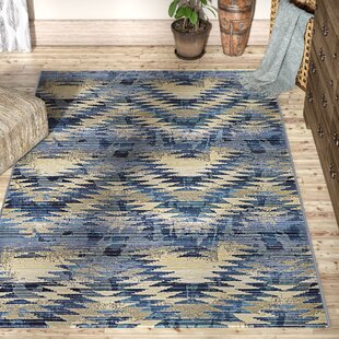Avila Blue Abstract Indoor/Outdoor Area Rug