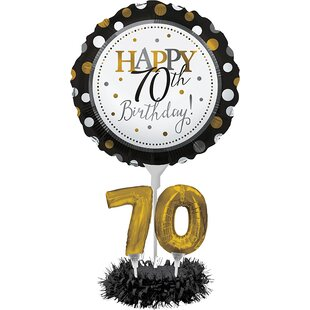 Henderson 70th Birthday Paper Balloon Centerpiece Set By The Holiday Aisle