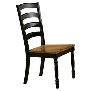 Courtdale Ladder Back Solid Wood Dining Chair (Set of 2) by Three Posts