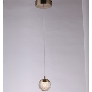 Orren Ellis Bell 1-Light Globe Pendant