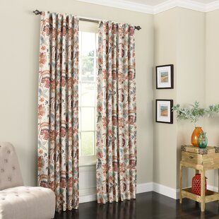 Jessamy Nature Fl Max Blackout Rod Pocket Single Curtain Panel