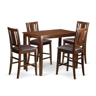 Yarmouth 5 Piece Counter Height Pub Table Set by Wooden Importers