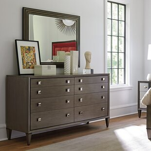 Ariana 8 Drawer Double Dresser with Mirror