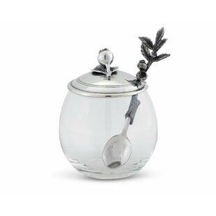 Farmer's Market Pewter Blueberry Jam Storage Jar with Spoon