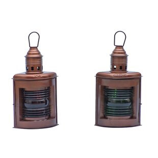 Handcrafted Nautical Decor Port and Starboard Oil Lantern (Set of 2)