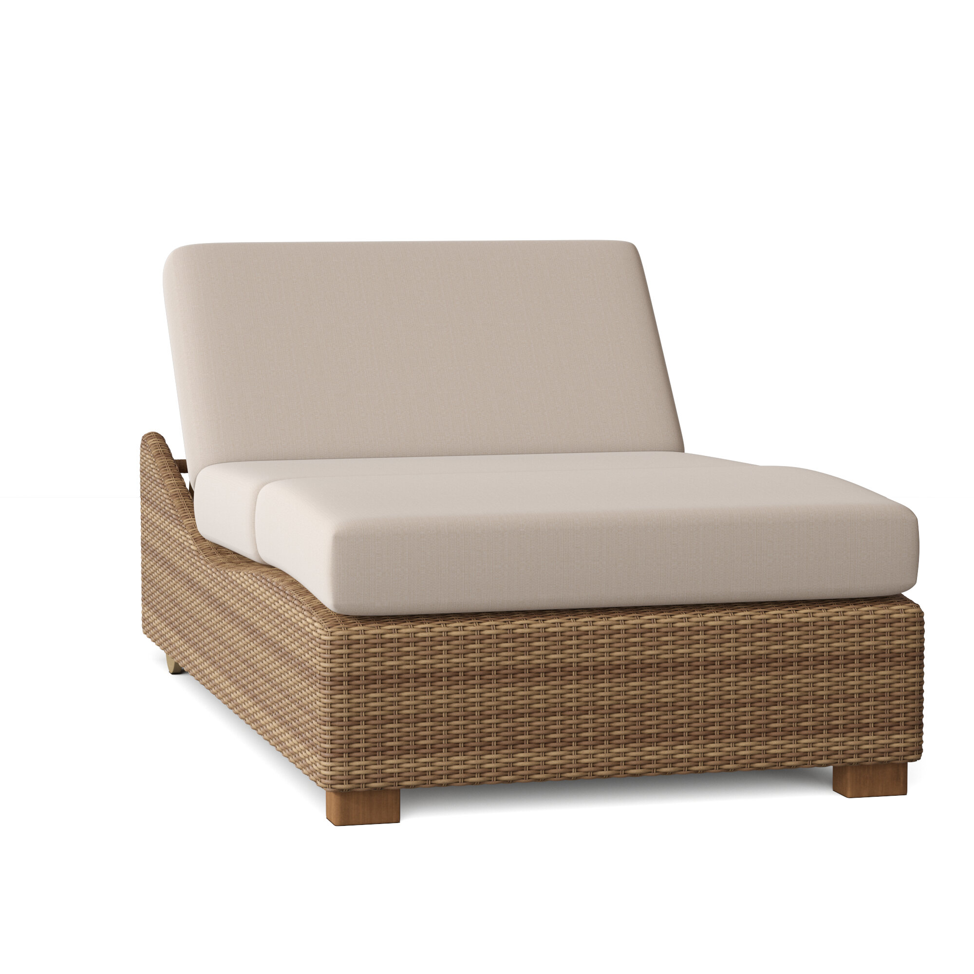 Montecito Double Reclining Chaise Lounge With Cushion