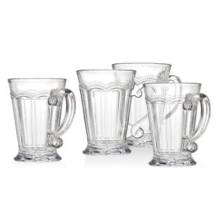 Chantilly Handled 10 oz. Mugs (Set of 4)