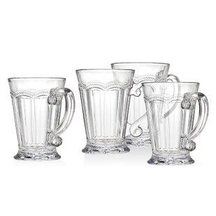 Chantilly Handled 10 oz. Mugs (Set of 4)
