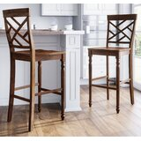 Remillard Solid Wood  Stool (Set of 2) by Alcott Hill®