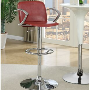 Puleo Gas Lift Adjustable Height Swivel Bar Stool Ebern Designs