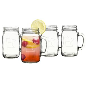 Home State 16 oz. Mason Jar (Set of 4)