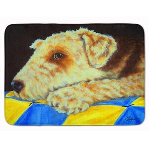 Airedale Terrier Momma's Quilt Memory Foam Bath Rug