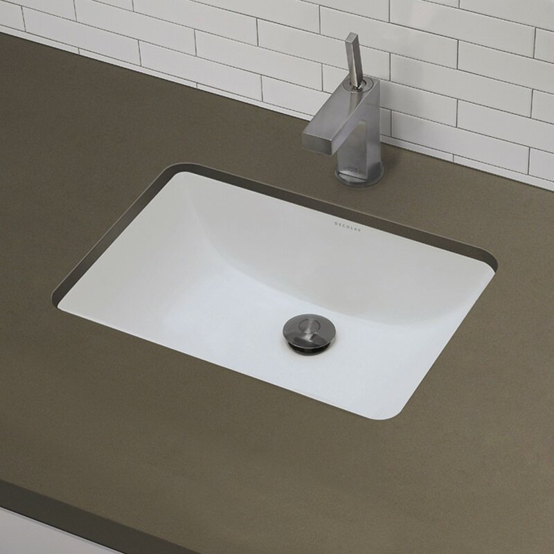 Bathroom Sinks On Sale decolav classic rectangular undermount bathroom sink with overflow