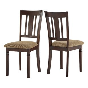 Danielsville Solid Wood Dining Chair (Set of 2) Charlton Home