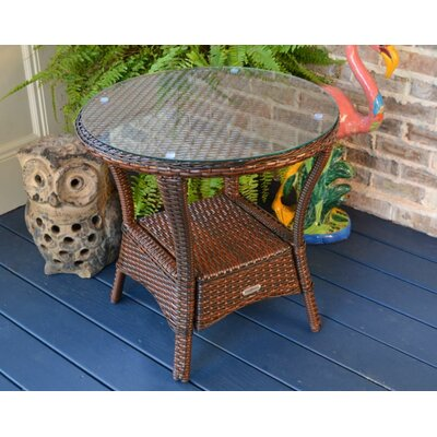 Tortuga Outdoor Portside Side Table Finish: Pecan