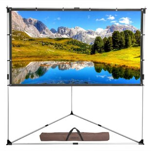 White 100 Portable Projection Screen