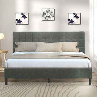 Nyles Upholstered Platform Bed by Wrought Studio