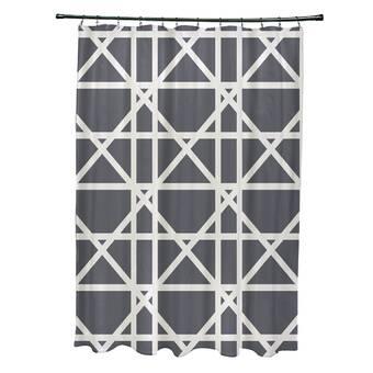 Bay Isle Home Sigsbee Fern 2 Floral Print Single Shower Curtain Wayfair