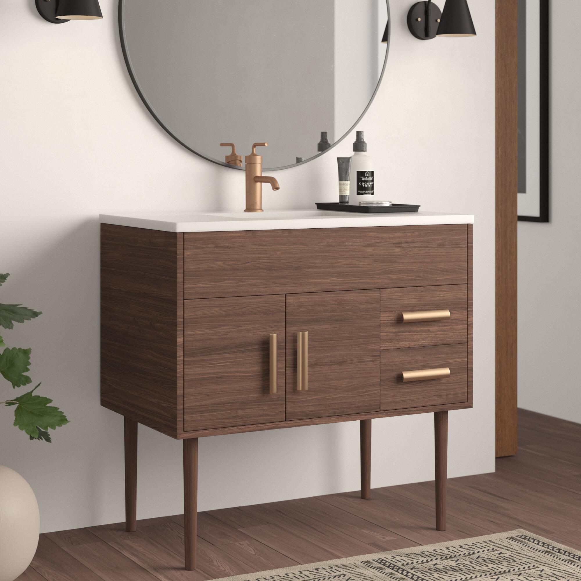 Matthews 37 Single Bathroom Vanity Set Reviews Allmodern
