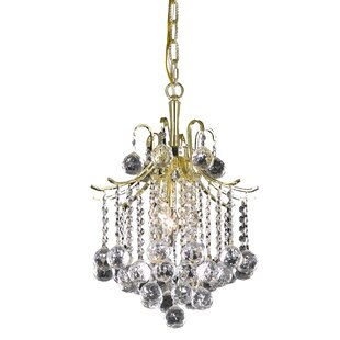 Living District Amelia 3-Light Crystal Pendant
