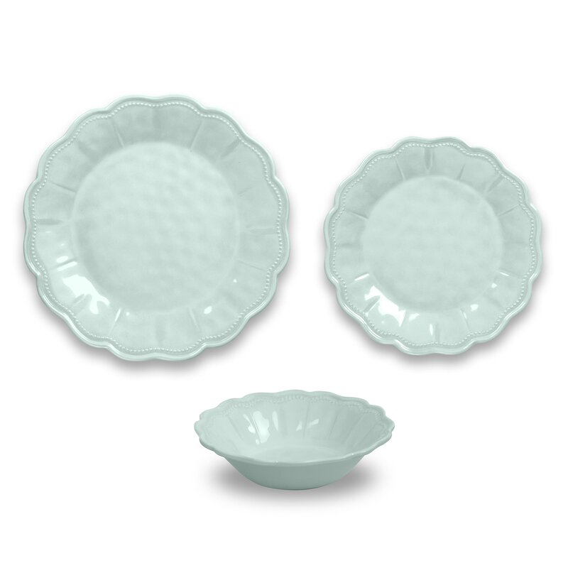 Robstown Pearl Blush 12 Piece Melamine Dinnerware Set, Service for 4