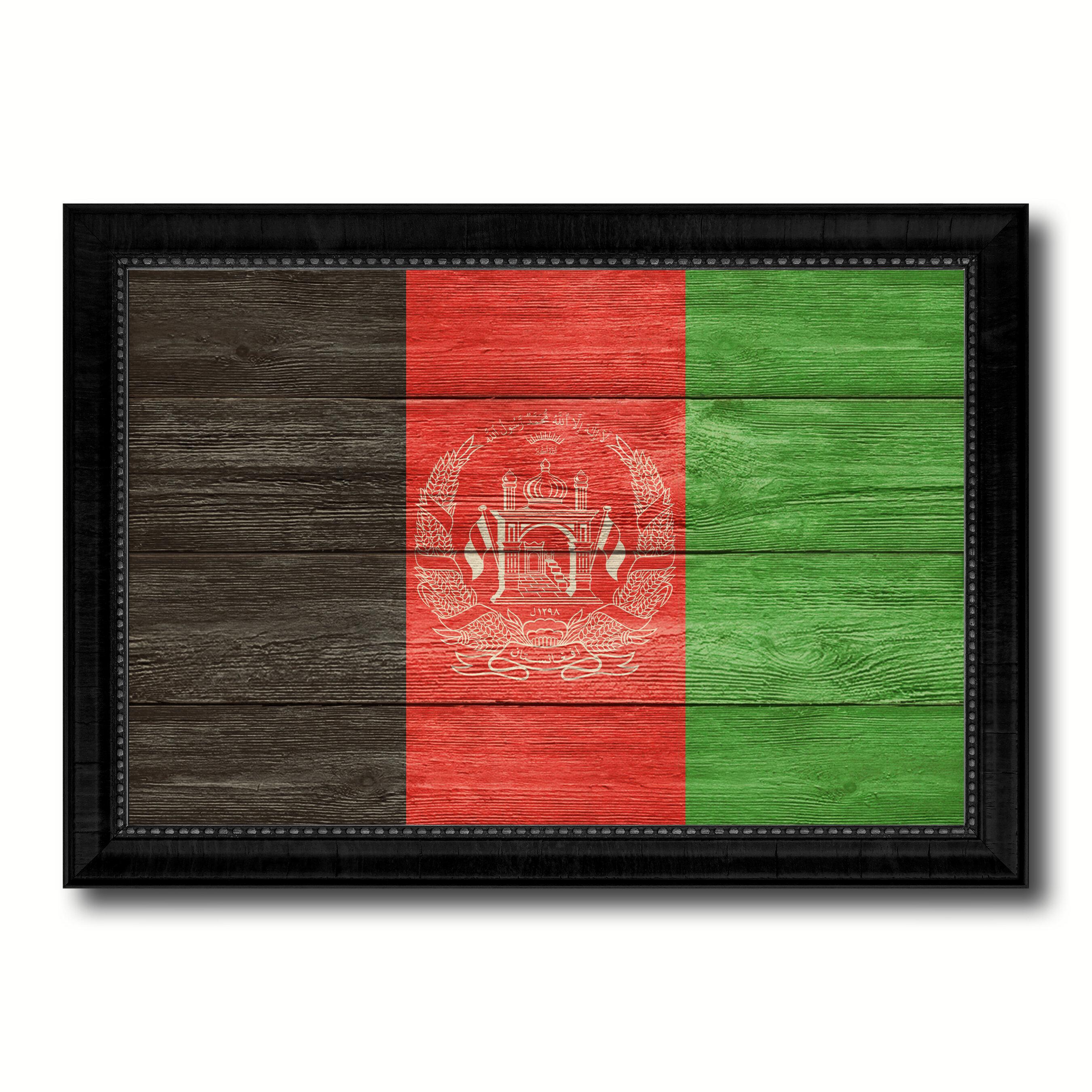 Spotcolorart Afghanistan Country Flag Framed Print On Canvas Wayfair