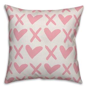 Downer XO Throw Pillow