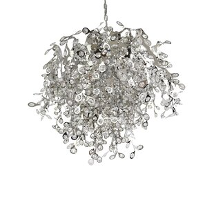 Orren Ellis Leonia 10-Light Crystal Chandelier
