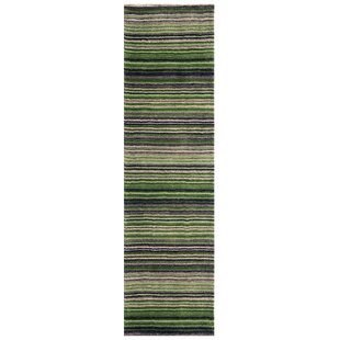 Nar Hand Woven Wool Green Rug