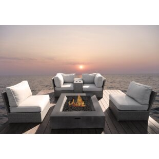 Grafton 6 Piece Sectional Seating Group with Cushions