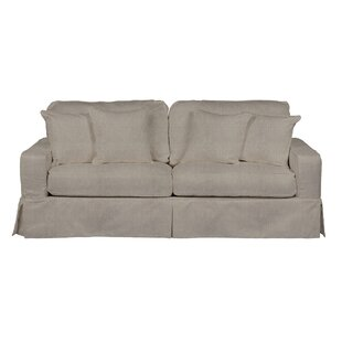 August Grove Columbus Slipcovered Sofa
