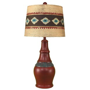 Rustic Living Casual Pot with Ribbed Accent 29.5 Table Lamp