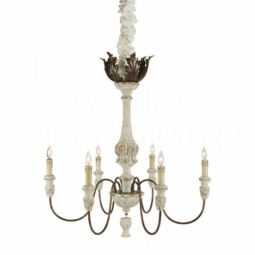 Candle-Style Chandelier #FrenchCountry #Frenchchandelier