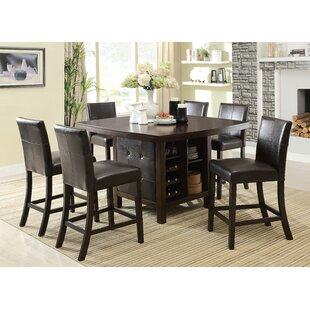 Loving 7 Piece Pub Table Set b..
