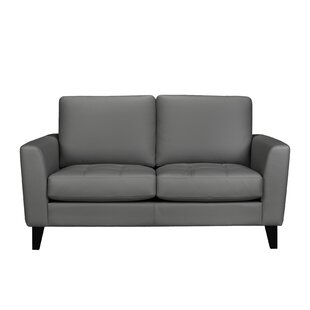 Brunet Leather Loveseat
