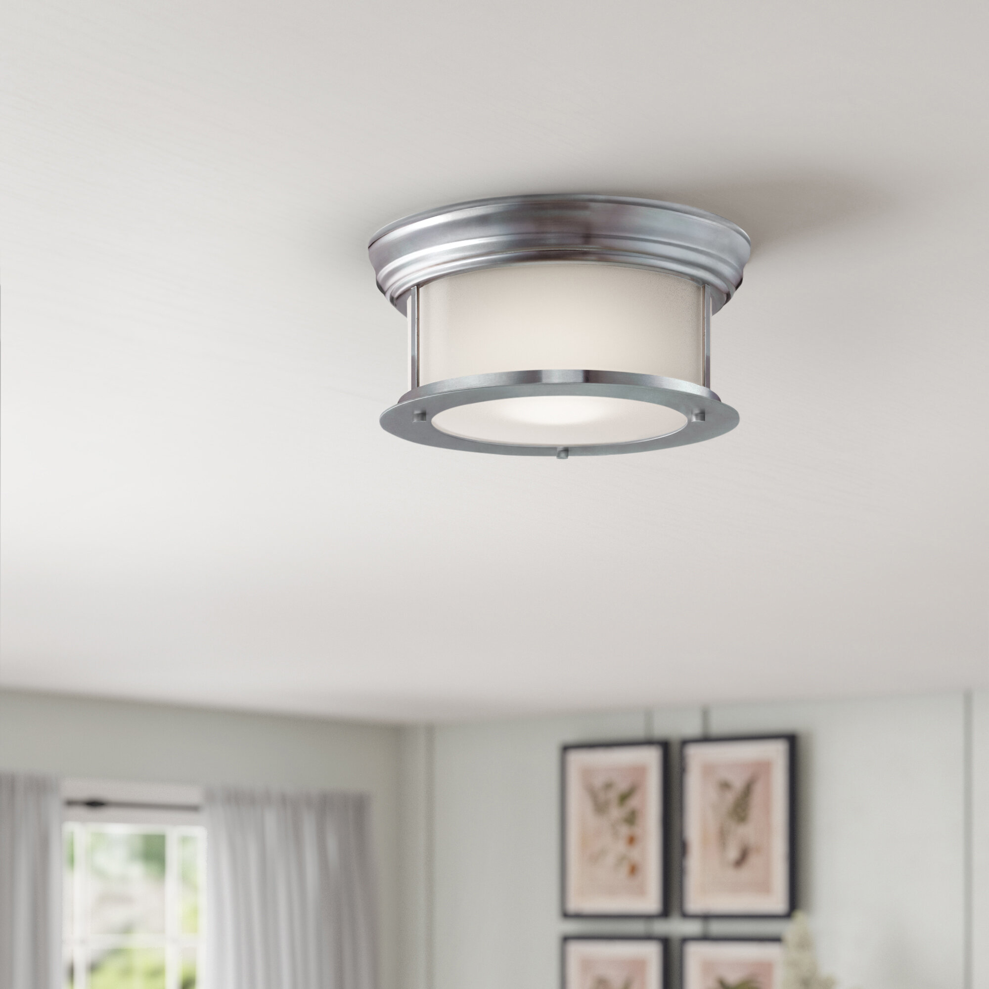 Alcott Hill Planas 2 Light Flush Mount Reviews Wayfair