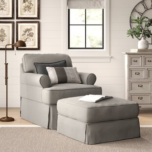 Reviews Coral Gables Armchair and Ottoman by Beachcrest Home Reviews (2019) & Buyer's Guide